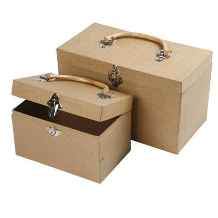 Objekten zum Dekorieren / objects for decorating Pappmaché Koffer, Groß 29x18x16 cm