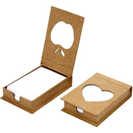 Objekten zum Dekorieren / objects for decorating Kladblok houder, grootte 10x7x2, 5 cm