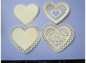 Spellbinders und Rayher Stansning - og prægning stencil SET, peak hjerte + Vintage nøgle