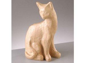 Objekten zum Dekorieren / objects for decorating Figura PappArt, gato