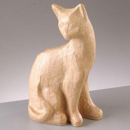 Objekten zum Dekorieren / objects for decorating PappArt Figur, Katze