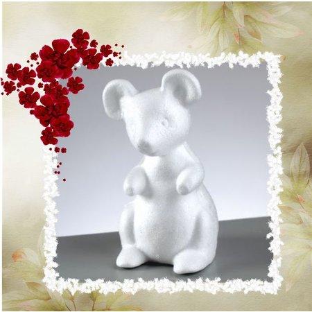 Objekten zum Dekorieren / objects for decorating 1 piepschuim vorm, muis