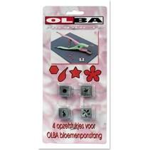 OLBA, Set af 4 stempling bits til Olba blomster tang