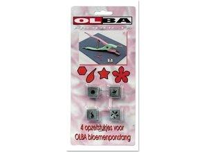 BASTELZUBEHÖR / CRAFT ACCESSORIES OLBA, Set af 4 stempling bits til Olba blomster tang