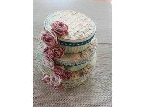 Objekten zum Dekorieren / objects for decorating Papkasse sæt, rund