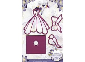 Precious Marieke Stamping and embossing stencil, Precious Marieke, Set of 4 templates