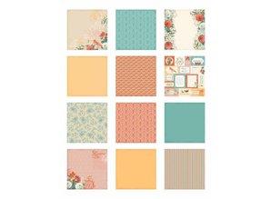 DCWV und Sugar Plum DCWV Designer Block, Coral Couture Paper Stack 30,5 x 30,5 cm.