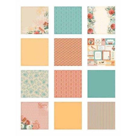 DCWV und Sugar Plum DCWV Designerblock, Coral Couture Paper Stack 30,5 x 30,5cm.