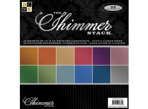 DCWV und Sugar Plum DCWV Designer Block, Shimmer Karton Papir Stack