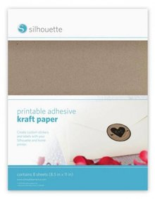 Silhouette NYHED her i butikken: printbare kraftpapir for Silhouette Cameo