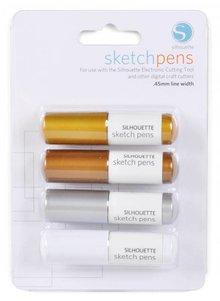 Silhouette Sketch Pen - Metallic Pastelli