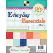 180 ark! DCWV, Everyday Essentials papir Stack