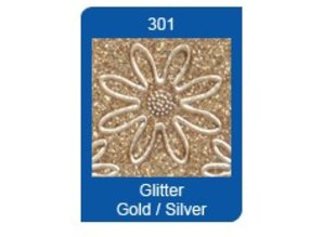 Sticker Glitter Ziersticker, 10 x 23cm, numbers, in silver-gold