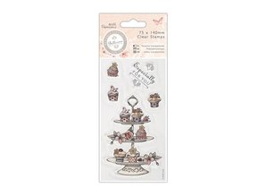 Stempel / Stamp: Transparent Ttransparante stamp, Bellisima, Cupcake Stand, 75 x 140mm,
