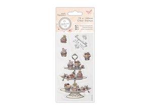 Stempel / Stamp: Transparent Ttransparante stempel, Bellisima, Cupcake Stand, 75 x 140mm,