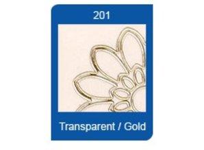 Sticker Stjerneform Transparent Klistermærker, 10 x 23cm, broderi, i sølv eller guld