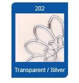 Sticker Forma a stella adesivi trasparenti, 10 x 23 centimetri, ricami, in argento o oro