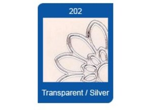 Sticker Star shape Transparent Stickers, 10 x 23cm, embroidery, in silver or gold