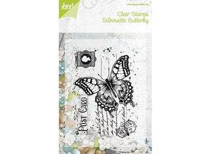 """Joy!Crafts und JM Creation Alegría manualidades, sellos transparentes """"Old Carta de la mariposa"""", 85 x 120 mm"""