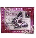 """Joy!Crafts und JM Creation Joy Crafts, Clear stamps, """"Gamle brev Butterfly"""", 85 x 120mm"""