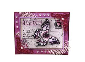 "Joy!Crafts und JM Creation Joy Crafts, Clear stamps, ""Gamle brev Butterfly"", 85 x 120mm"