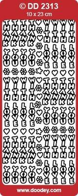 Sticker Ziersticker tekst