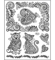 Viva Dekor und My paperworld Gennemsigtig stempel, 14 x18 cm