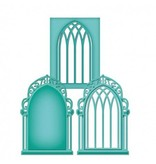 Spellbinders und Rayher Punch - og prægning stencil, metal stencil Window Tre