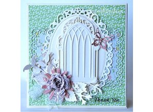 Spellbinders und Rayher Punch - and embossing stencil, metal stencil Window Three