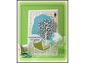 Spellbinders und Rayher Punching - and emboss.templ, metal template Whimsical Tree