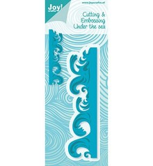 Joy!Crafts und JM Creation Punching - and embossing folder: Borduur with waves
