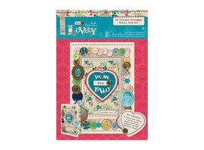 Exlusiv Syning: A5 Decoupage Card Kit Medley-Sew Lovely