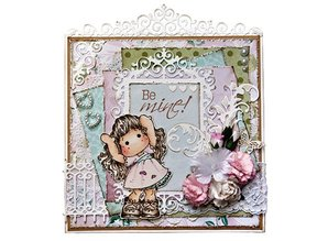 Joy!Crafts und JM Creation BASTEL TIP: punching - and embossing stencil, top frame and 3 corners