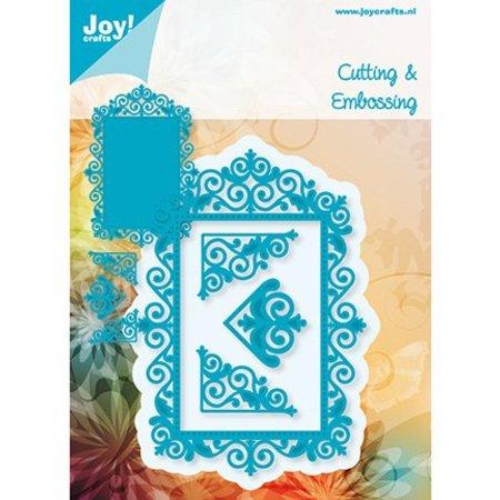 Joy!Crafts und JM Creation BASTELTIPP:  Stanz - und Prägeschablone, Spitze Rahmen und 3 Ecken