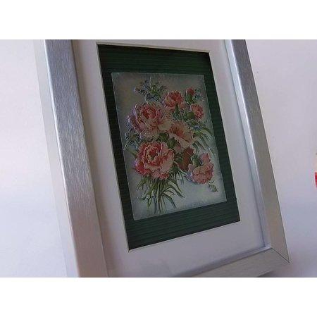 """BILDER / PICTURES: Studio Light, Staf Wesenbeek, Willem Haenraets 3D Dufex die cut sheet metal engraving, gallery """"Chrysanthemums and Roses"""""""