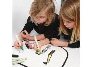 Kinder Bastelsets / Kids Craft Kits Til at dekorere let at male med Stoffmalstift, - 2 solskærm til bilen