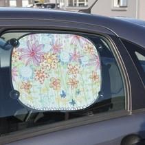 2 Sonnenblende für das Auto - mit Stoffmalstift leicht zu bemalen, zu dekorieren