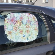 To decorate easy to paint with Stoffmalstift, - 2 sun visor for the car