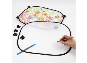 Kinder Bastelsets / Kids Craft Kits To decorate easy to paint with Stoffmalstift, - 2 sun visor for the car