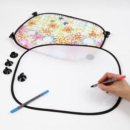 Kinder Bastelsets / Kids Craft Kits Para decorar fácil de pintar con Stoffmalstift, - 2 parasoles para el coche