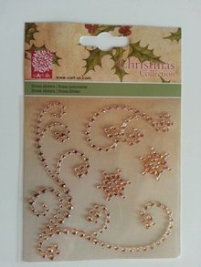 "Embellishments / Verzierungen Gemstone Stickers, ""ornamenti"", color oro"