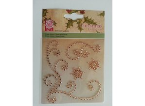 "Embellishments / Verzierungen Gemstone Stickers, ""ornaments"", gold color"