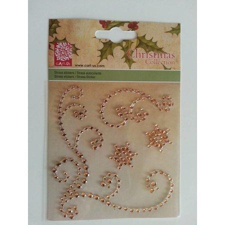 """Embellishments / Verzierungen Gemstone Stickers, """"adornos"""", color oro"""