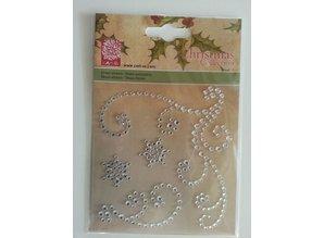 """Embellishments / Verzierungen Gemstone Stickers, """"ornaments"""", transparent"""