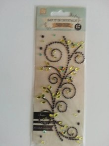 "Embellishments / Verzierungen Gemstone Klistermærker, ""ornamenter"", sort"