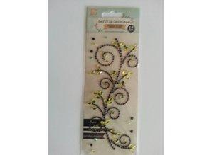 """Embellishments / Verzierungen Gemstone Stickers, """"ornaments"""", black"""
