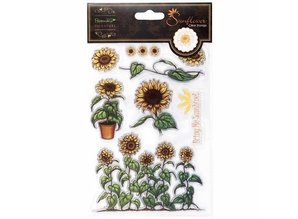 Docrafts / Papermania / Urban Clear stamps, sunflower