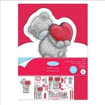 Craft Kit, A5, glitter kart design, Me til dig (jeg elsker dig)