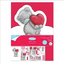 Craft Kit, A5, glitter kart ontwerp, Me to you (I love you)