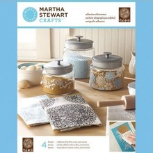 EK Succes, Martha Stewart Martha Stewart Adhesivo serigrafías, floral tapete, 22 x 28 cm, 1 pc